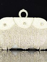 Handbag Satin/Crystal/ Rhinestone/Metal/Sparkling Glitter/Imitation Pearl Evening Handbags With