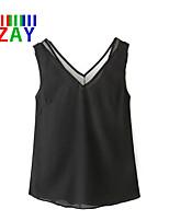 ZAY Women's Casual Sleeveless Regular T-shirt