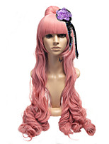 Megurine Luka Full Lace Cosplay Wig Japan Anime Vocaloid Haku Ryu No Naku Hakoniwa Yori Super Long Wavy Pink