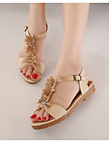 Women's Shoe Flat Heel Closed Toe Sandals Outdoor/Casual White/Beige