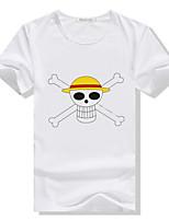 Herren Freizeit/Büro/Sport T-Shirt  -  Druck Kurz Baumwolle