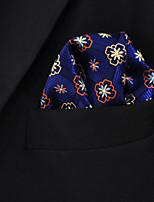 Men's Business Floral Navy Blue  Pocket Square