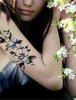 5Pcs Waterproof Color Flower Pattern Temporary Body Art Tattoo Sticker