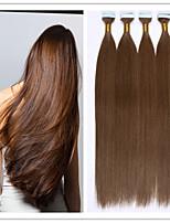 Kleber Hauteinschlag Keratinhaarverlängerung brasilianische Menschen virgin glattes Haar 2.5g / strand 100g / pc 1pc / lot auf Lager