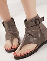 Women's Shoes Wedge Heel Flip Flops Sandals Casual Black/Khaki