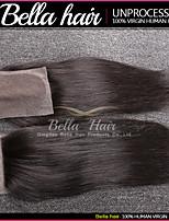 Brazilians Cheveux humains Vierges avec la Fermeture, Cheveux droits, Couleur Naturelle 4x4