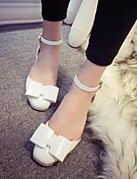 Chaussures Femme Similicuir Gros Talon Bout Carré Escarpins / Talons Habillé Rose/Blanc/Gris