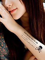 5Pcs Waterproof Skull Pattern Temporary Body Art Tattoo Sticker