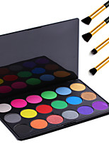Pro 18 Color Neutral Warm Eyeshadow Cosmetic Palette Eye Shadow Makeup + 4PCS Pencil Makeup Brush