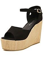 Women's Shoes Velvet Wedge Heel Peep Toe Platform Sandals Party More Colors available