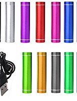 DE JI Universal Power Bank External Battery iphone iPad/Samsung/Smartphones mobile devices (Assorted Colors, 2600 mAh)