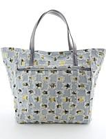 Women 's Denim Shopper Tote - Gray