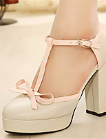 Women's Shoes Rubber Platform Platform Pumps/Heels Casual Beige