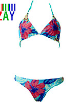 ZAY Women's Beatiful Sexy Print Halter Push Up Bikinis