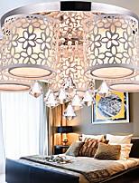 Flush Mount Crystal Modern/Contemporary Living Room/Bedroom/Dining Room/Study Room/Office Metal