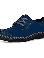 Men's Shoes Outdoor/Casual Leather Oxfords Yellow/Brown/Navy/Black