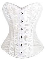 Shapewear Shaping Tops Polyester/Stretch Yarn Net White