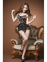 Women's Sexy Low-Cut Ruffled Leopard Racy lingerie
