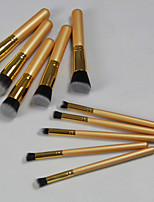 10 pcs Golden Qualtiy Makeup Brush Set