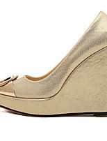 Women's Shoes Wedge Heel Pointed Toe Pumps/Heels Casual Black/Silver/Gold