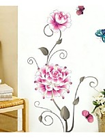 Flowers And Butterflies Love Bedroom Walls Stickers