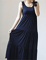 Women's Sexy Casual Cute Maxi/Plus Sizes Stretchy Sleeveless Maxi Maternity Dress (Cotton/Elastic)