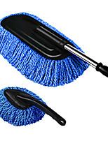carros com mop telescópica, limpeza mop pó, suprimentos de lavagem de limpeza ferramentas poeira escova carro removendo (grande + pequeno)