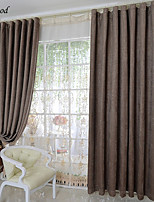 (One Panel)Classical Pure Coffee Color Thick Chenille Jacquard  Room Darkening Curtain