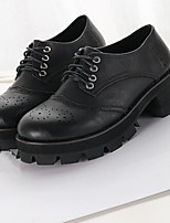 Women's Shoes Chunky Heel Creepers/Round Toe Pumps/Heels Casual Black