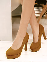 Women's Shoes Stiletto Heel Heels/Platform/Round Toe Pumps/Heels Office & Career/Dress Black/Blue/Yellow/Red