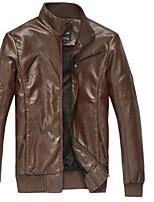 Men's Fluff Lining Leather Jacket