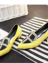 Women's Shoes  Chunky Heel Pointed Toe Pumps/Heels Dress Black/Yellow/Red/White