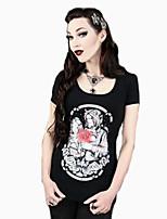 Ronde hals - Spandex Vrouwen - T-shirt - Korte mouw