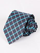 Dark Grey Plaid Tie #PT064