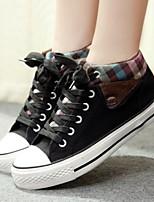 Scarpe Donna Di corda Piatto Comoda/Punta arrotondata/Chiusa Sneakers alla moda Tempo libero/Casual Nero/Blu/Borgogna