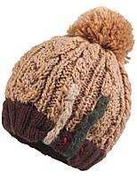Kenmont Women Winter Korean Cute Skin Hat Thicken Wool Acylic Knit Handmade Jacquard Warm Cap 1617