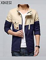 Men's Casual/Work Long Sleeve Regular Jacket (Cotton)XKS7B02