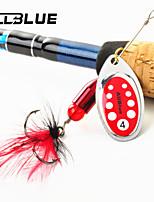 ALLBLUE Spinnerbaits/Cuillères/Kits de leurre/Appât métallique 3.6 g 5 pcs 50-70Pêche à la mouche/Pêche d'appât/Pêche aux