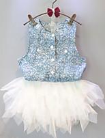 2015 Splicing sleeveless Veil Dress