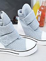 Scarpe Donna - Sneakers alla moda - Tempo libero / Casual - Punta arrotondata - Piatto - Di corda - Nero / Grigio