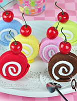 Swiss Roll Cake-shape Hand Towel Fake Cake with 1 cheery Wedding Favors (Random Color)