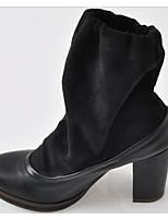 Women's Shoes Synthetic Chunky Heel Heels Pumps/Heels Outdoor/Casual Black/Brown