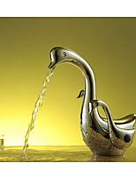 Aquafaucet Swan Bathroom Sink Vessel Faucet Vanity Mixer Tap Chrome Brass Two Handles