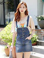 Women's  Sleeveless Mini  Jeans  Dress