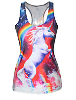 2015 Women's Chic-Look Print Tank Top Vest Blouse Gothic Punk Clubwear T-Shirt