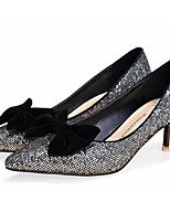 Women's Shoes Glitter Stiletto Heel Closed Toe Pumps/Heels Office & Career/Dress Black/Silver/Gold