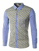 Men's Long Sleeve Shirt , Cotton/Polyester Casual