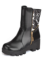 Women's Shoes  Stiletto Heel Combat Boots/Round Toe Boots Office & Career/Dress Black/Brown/White