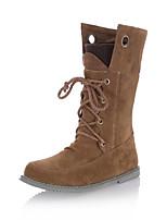 Chaussures Femme - Bureau & Travail / Habillé / Décontracté - Noir / Jaune / Gris - Talon Plat - Rangers / Négligé - Bottes - Similicuir