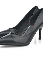 Women's Shoes Faux Leather Stiletto Heel Heels Pumps/Heels Dress/Casual Black/Beige
